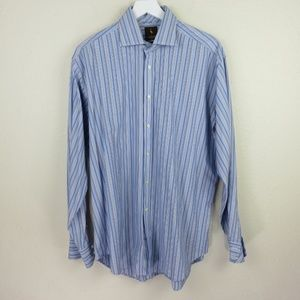 Tailorbyrd Striped 2-Ply Cotton Dress Shirt